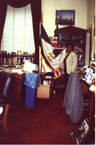 mom at congressman EF's office