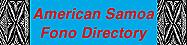 American Samoa Fono Directory